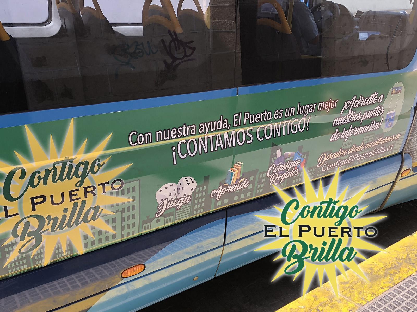 transporte público bus contigo el puerto brilla