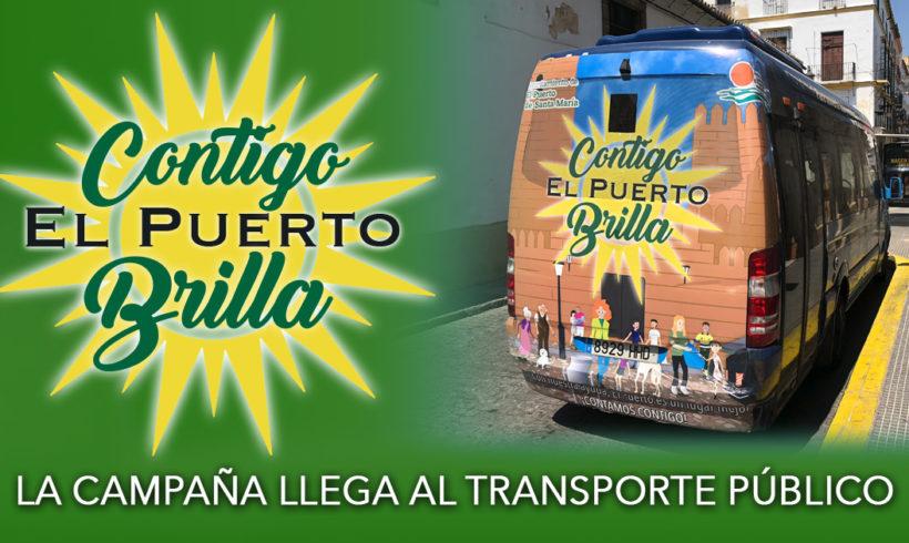 La campaña llega al transporte público