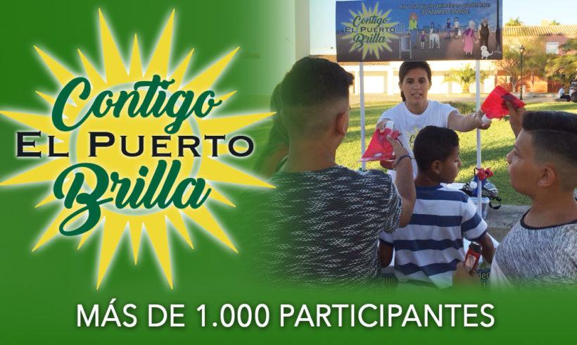 Más de 1.000 participantes en Contigo El Puerto Brilla