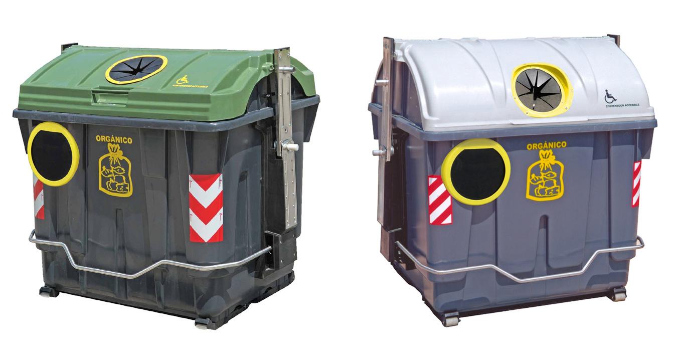 contenedores de carga lateral accesibles