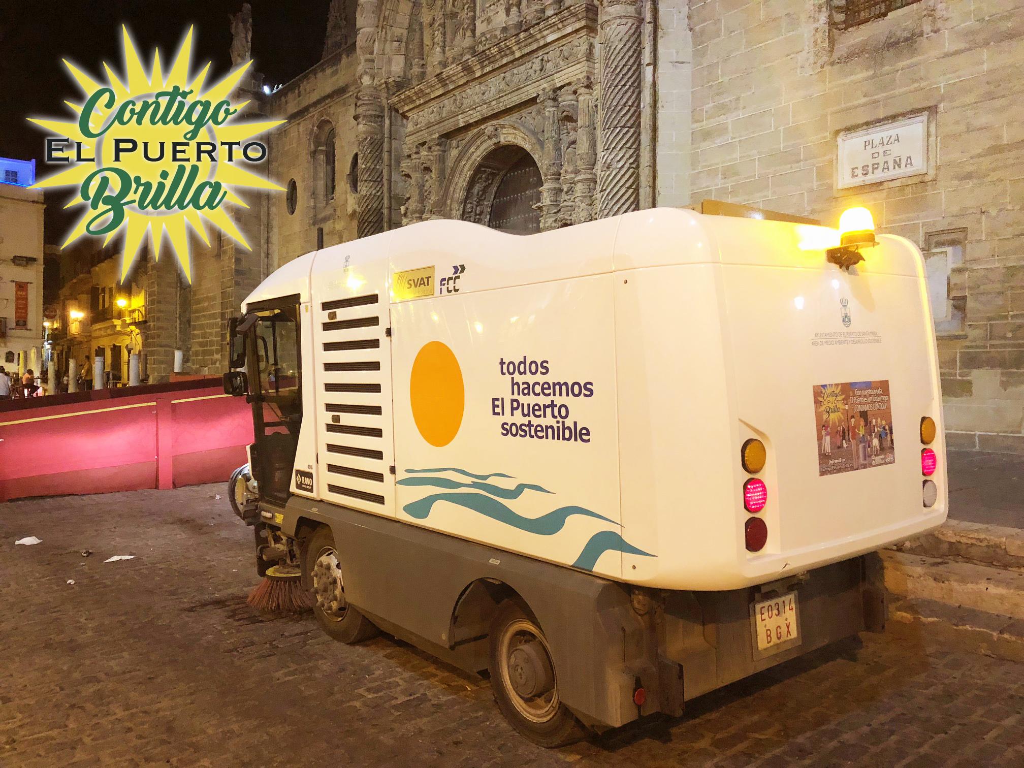 vehículos de limpieza con campaña