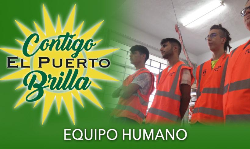Equipo humano en los puntos informativos de la campaña